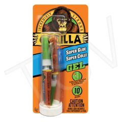 AF411 Gorilla Super Glue Gel Format: 2 x 3 g Container Type: Tube Colour: Clear GORILLA #7830002