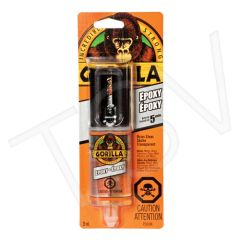 NKA479 Gorilla Epoxy Format: 0.85 oz. Container Type: Dual Cartridge Colour: Clear Type: Two-Part GORILLA #4200602