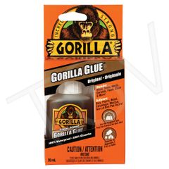 NKA497 Original Gorilla Glue Format: 2 oz. Container Type: Squeeze Bottle Colour: Tan Application Time: 10 min. GORILLA #50003C