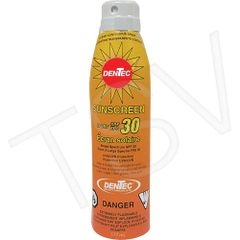 JH417 SPF 30 Sunscreen 6oz Aerosol Can Water-Resistant PABA free Dentec