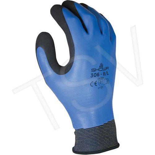 SDP571 Showa ® 306 Gloves Gauge: 13 Liner: Nylon Coating: Rubber Latex SHOWA BEST GLOVE #306