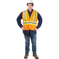 SEF101 Traffic Vest, CSA Compliant Surveyor ORANGE ZENITH (Med-XXL)
