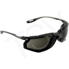 SEH157 Safety Glasses 3M Virtua CCS with Foam Gasket Anti-Fog GREY/SMOKE LENS 11873-00000-20
