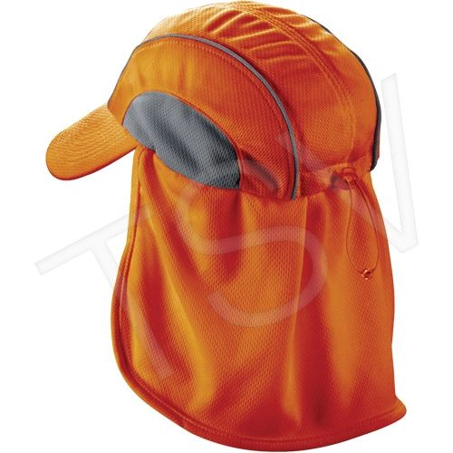 SEC713 Chill-Its® 6650 Cooling Hats Neck Shades ERGODYNE #12521 (Orange or Hi-Viz Lime)