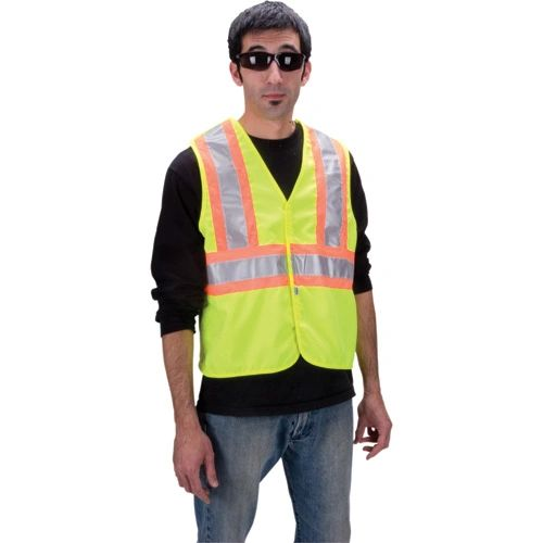 SDP431 Safety Vests with Contrasting Stripe (MED-3XL) #6135G