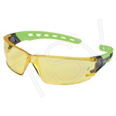 SDN703 Safety Glasses AMBER ANTI-SCRATCH LENS UV Flexable Arm CSA Z94.3/ANSI Z87 ZENITH #Z2500