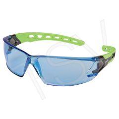SDN704 Safety Glasses BLUE ANTI-SCRATCH LENS UV Flexable Arm CSA Z94.3/ANSI Z87 ZENITH #Z2500