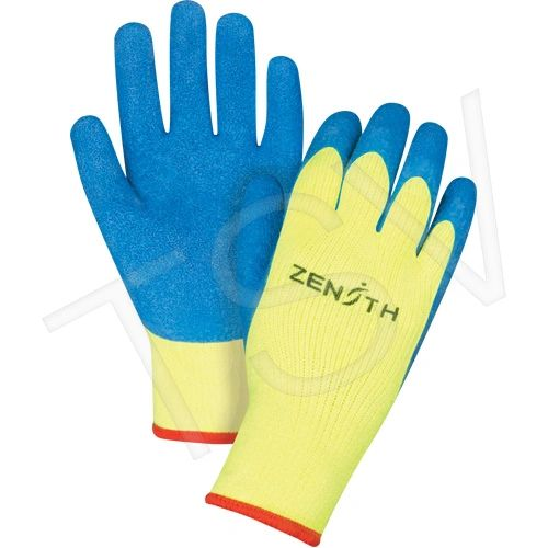 SEC798 GLOVES High Visibility Natural Rubber Acrylic Lined Gloves 7ga (SZ's 7-11)