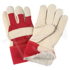 SAO053 Grain Cowhide Fitters Acrylic Boa Lined Gloves LARGE ZENITH (XL-2XLR)