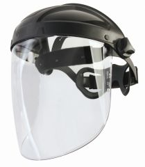 """SFQ566 Uvex Turboshield Visor ANTI-FOG Face Shield Height: 8-1/2"""" Width: 12-1/2"""" Thickness: 0.09"""" Material: Polycarbonate HONEYWELL #S9550 (Shield Only)"""
