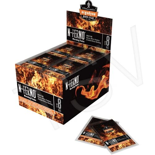 "SEL011 N-Ferno ® 6990 Hand Warming Packs Dimensions: 3-3/4"" x 2"" Cold/Hot: Hot Reusable: Single Use ERGODYNE #16990"
