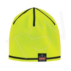 SGH676 N-Ferno 6816 Reversible Knit Cap Outer Material: Polyester Lining Material: Fleece Colour: High Visibility Lime-Green ERGODYNE #16816