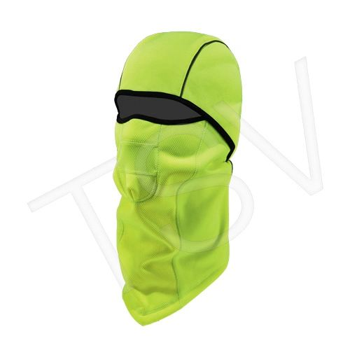 SGH658 N-Ferno 6823 Wind-Proof Hinged Balaclava Material: Fleece Colour: High-Visibility Lime Green ERGODYNE #16834