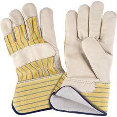 SM610 Cotton Fleece Lined Grain Cowhide Fitters PREMIUM Gloves, LADIES (LR-XL)