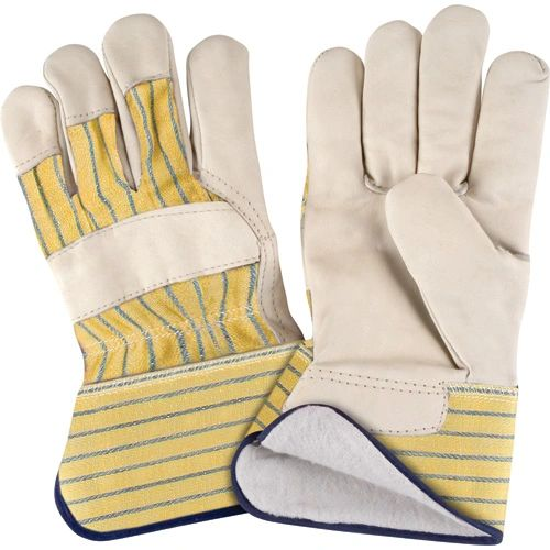SM610 Cotton Fleece Lined Grain Cowhide Fitters PREMIUM Gloves, LADIES (LR-XL)