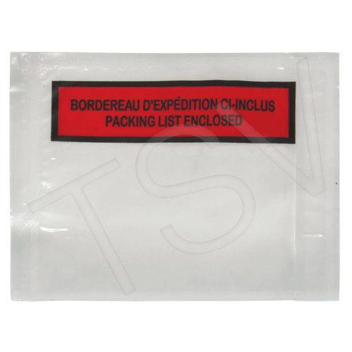 """PF878 (PA189) Packing List Envelopes Inside 4"""" x 5"""" Outside 4 1/4"""" x 5 1/2"""" KLETON"""
