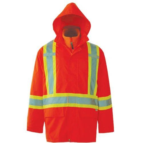 SEF133 Journeyman 3-in-1 Safety Jackets ORANGE Reflective: SILVER/YELLOW VIKING
