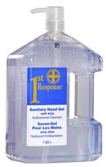 88-07 1st Response Hand Sanitizer GEL 70% 1.89 L x 4 PUMP BOTTLE GRIME EATER