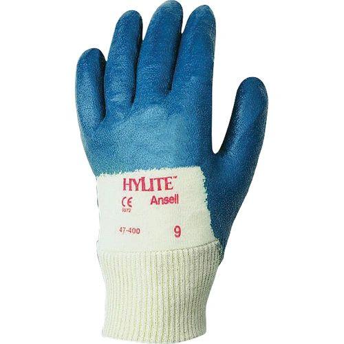 SAW984 Hylite® NITRILE PVC COATED, INTERLOCK KNIT BACK MED DUTY FDA #47-400 (Sz's 7-10) ANSELL
