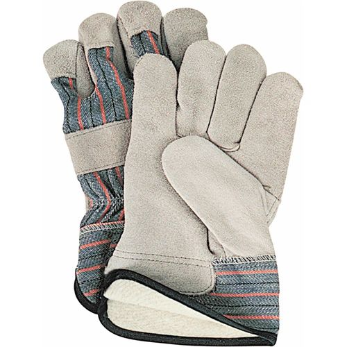 SD613 Cotton Fleece Lined Split Cowhide Fitters Gloves, LARGE