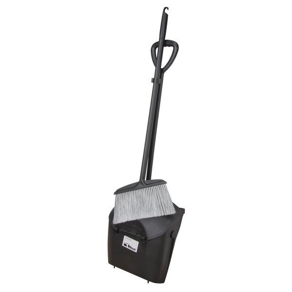 "JH488 (JC870) LOBBY DUST BROOM & PAN WITH GRIP 24"" PLASTIC HANDLE"