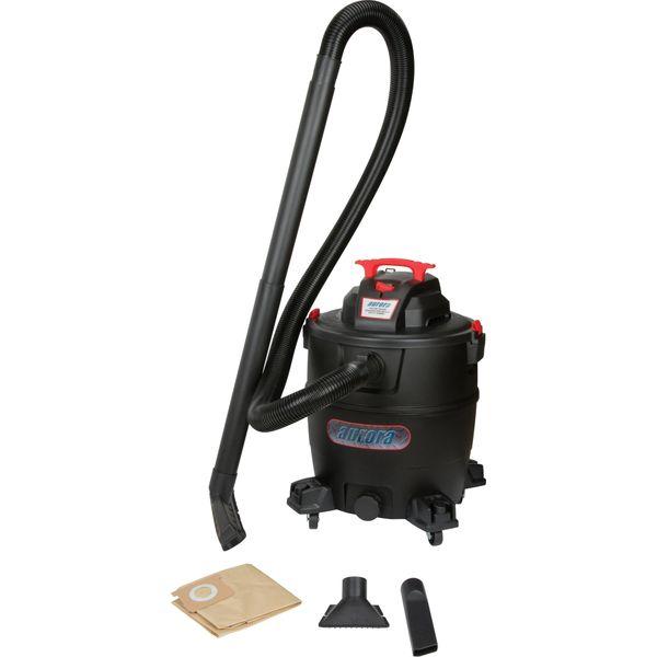 SDN119 Industrial Wet/Dry Poly 16 US Gal Vacuum 16' Cord Swivel Castor AURORA TOOLS