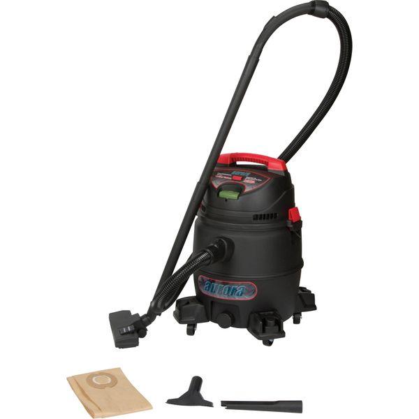 SDN116 Industrial Wet/Dry Poly Vacuum 8 US Gal 16' Cord Swivel Castor AURORA TOOLS