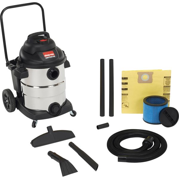 JD441 Contractor/Industrial 10 US Gal. Wet/Dry Vac 6.5 Peak HP #96265-10 SHOP VAC
