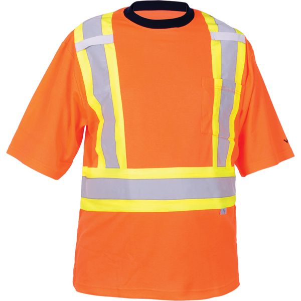 SDP402 Safety T-Shirt Background Colour: High Visibility Orange (M-3XL)