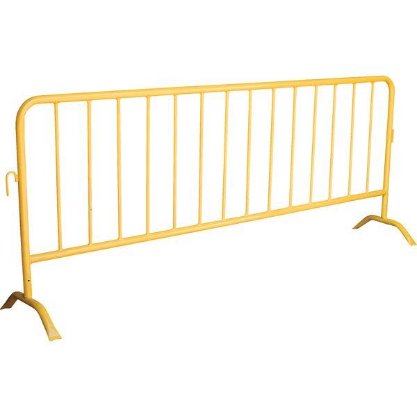 "SEE396 Portable Interlocking Barriers 40""Hx102""L YELLOW STEEL Crowd Control/Construction Distancing Blocks ZENITH"