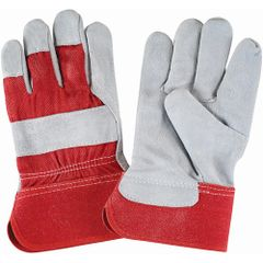 SAP227 Split Cowhide Fitters, Superior Quality Gloves, Premium Quality, Rubberized Cuff, Large