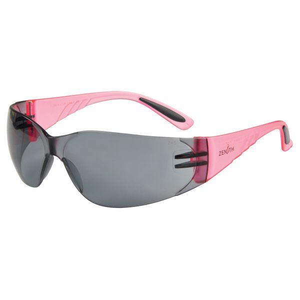 SGF151 Eyewear Safety Glasses Grey/Smoke Anti-Scratch Pink Sides #Z2600 Series