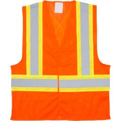 SGI273 (SEB698) CSA Compliant Traffic Safety Vests High Visibility ORANGE (M-XL)