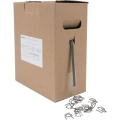 """PG010 (PF072) STRAPPING KIT, Polypropylene BLACK - 1/2"""" x 3300' x 300LB Strength Portable Box (Includes 360 Steel Buckles) #PP1233B-360 KEMEX STRAPPING"""