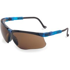 SN222 Genesis Safety Glasses #S3241X ANTI-FOG/ANTI-SCRATCH CSA Z94.3 VAPOUR BLUE FRAME BROWN LENS UVEX BY HONEYWELL
