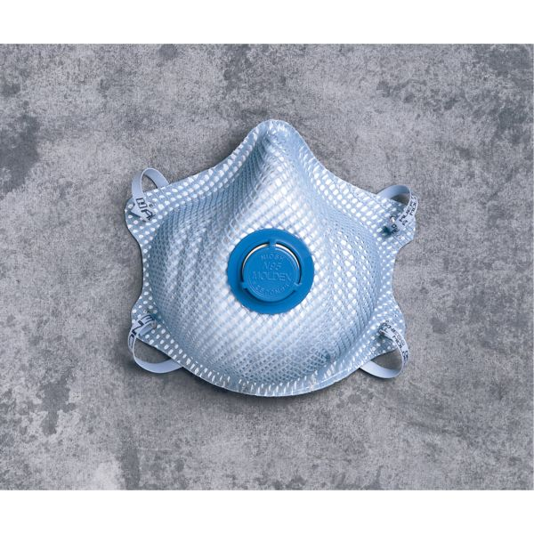 SE853 N95 Particulate Respirator 2500 WITH VALVE 10/BX #2500N95 MOLDEX