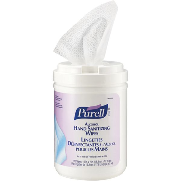 **DISCONTINUED** JC671 Hand Sanitizing Alcohol Wipes 175 per CANISTER #9031-06-CAN00 PURELL