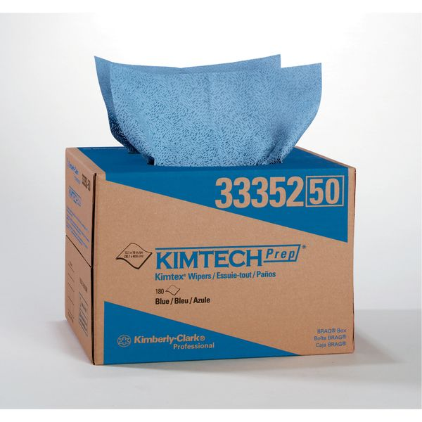 NI328 WIPER, KIMTECH-Prep LOW-LINT 12Wx16L 180SHEET POP-UP BLUE Kimberly-Clark #33352