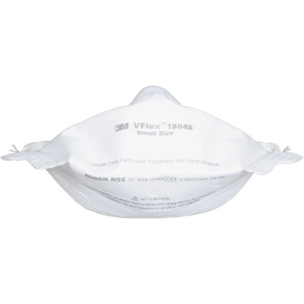 SGN905 3M N95 VFlex™ Healthcare Particulate Respirator & Surgical FLAT-FOLD Mask #1804 NIOSH (SML OR STANDARD) 50/BX