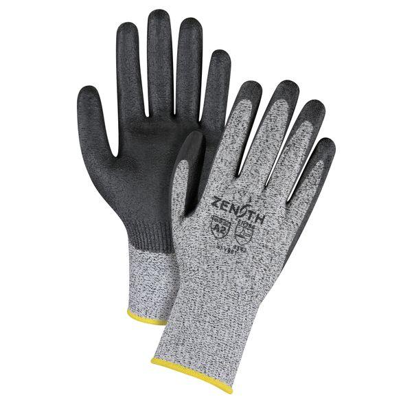 SFV077 Polyurethane-Coated Gloves 13ga Cut Resistance HPPE EN 420 Dexterity Level:5 ANSI/ISEA 105 Level 2/EN 388 Level 3 ZENITH (SML-2XL)