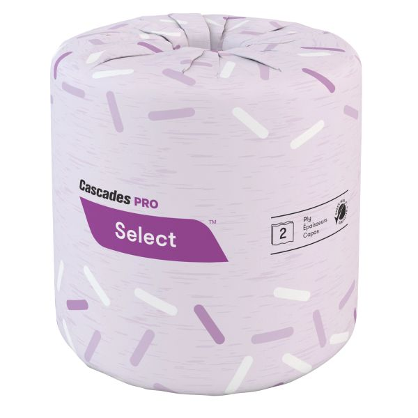 JC018 Toilet Paper 2PLY x 171' x 500SH 100% Recycled Fibres ECOLOGO GREEN SEAL #B180 CASCADES PRO SELECT 48/CS WHITE