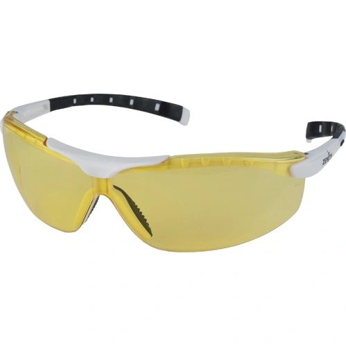 SEI525 EYEWEAR WRAP-AROUND AMBER TINT/WHITE FRAME #Z1500-LOWLIGHT