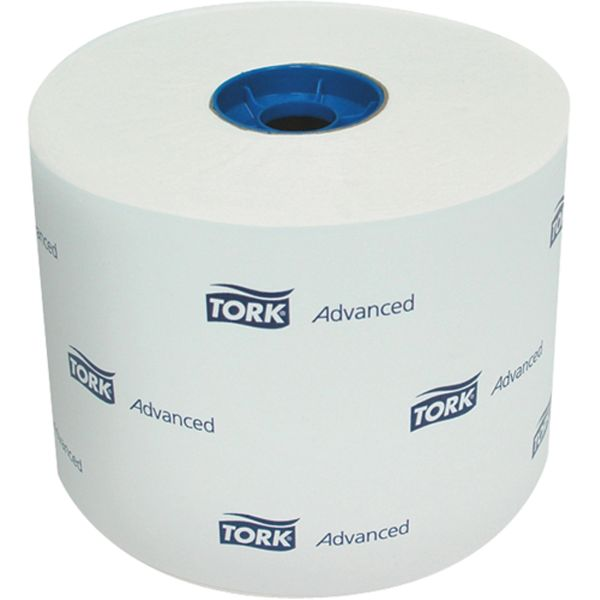 JA109 TOILET TISSUE, 1PLY x 625' x 2000SH High Capacity 100% Recycled 36/CS #11.02.91A TORK WHITE