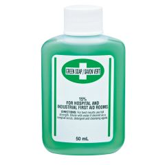 SEE682 Green Soap Antiseptic Cleanser Chlorhexidine Digluconate Surgical Scrub, Hospital & First Aid Room (12gr, 50ml, 250ml or 500ml)/Bottle