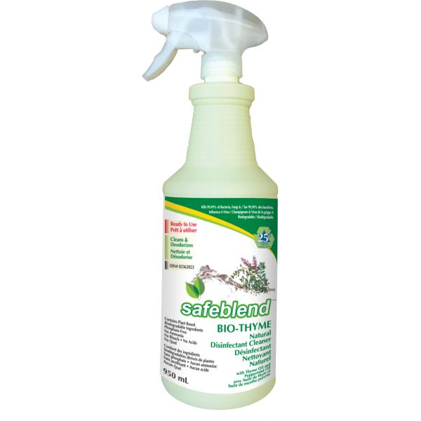 JD127 Bio-Thyme Cleaners & Disinfectants SPRAYER 950ML Kills 99.9% of Germs, Bacteria & Viruses Bottle #SRBPX0D SAFEBLEND