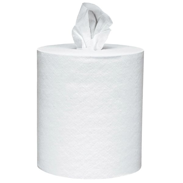 JI428 Towels, Center-Pull 1PLY x 700' Roll Control 6/CS WHITE #01032 SCOTT®