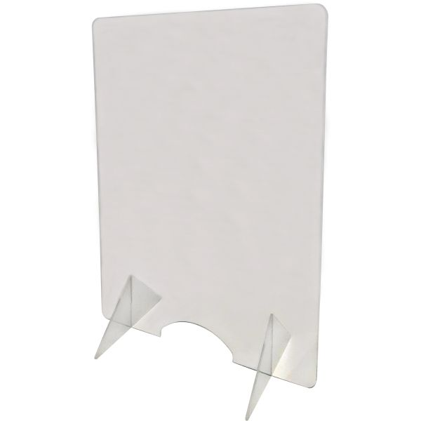 "SGU383 Countertop Safety Shield Distancing 24""W x 32""H Durable, Clear Acrylic 3/16"" THICK"
