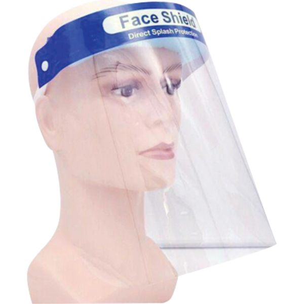 "SGU285 Clear Faceshield with Head Gear Height 8-5/8"" Width 12-1/2"" Thickness 0.01"" Material PET Shield Tint Clear Suspension Type Ratchet"