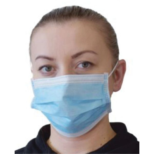 **DISCONTINUED** SGU397 Disposable Surgical Face Masks 3-ply polypropylene Class 1 ASTM Adjustable nose clip 99% BFE FDA APPROVED 50/BX
