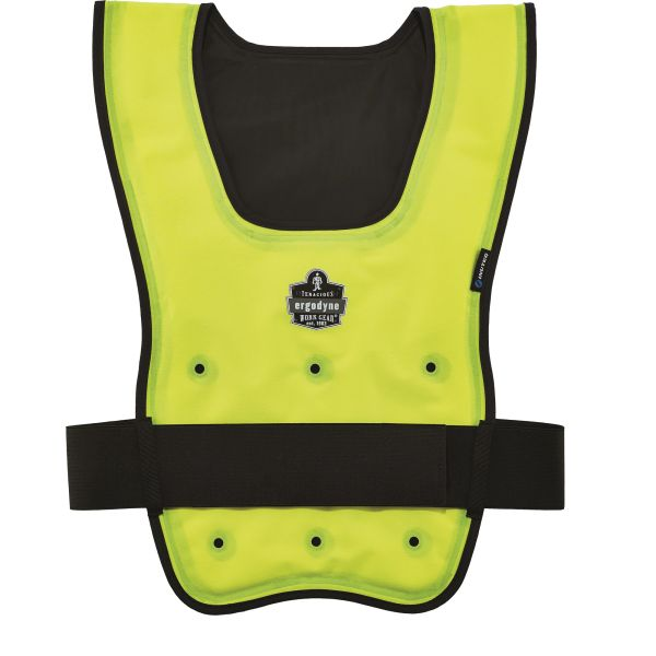 SGO695 Chill-Its® 6687 Economy Dry Evaporative Cooling Vest High Visibility Lime-Yellow #12683 ERGODYNE (SML-XLR)